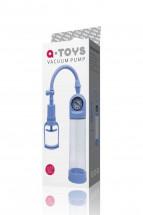 Голубая вакуумная помпа A-toys с манометром и прозрачной колбой